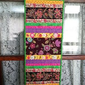 Colorful Table Runner Wall Quilt